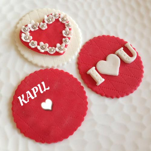 Cake Image Name Kapil : I Love You Love Note Greeting With Name