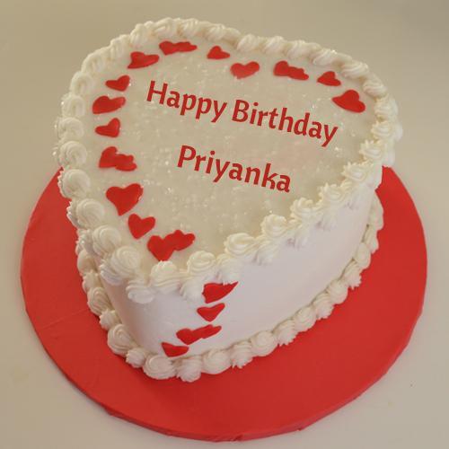 Happy Birthday White Chocolate Cake With Name