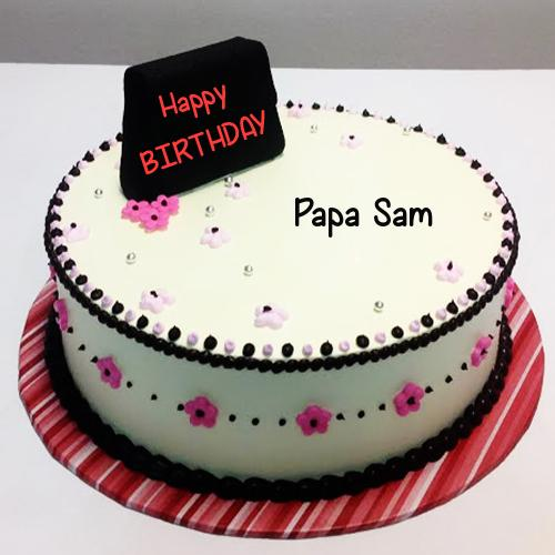 Happy Birthday Papa Cake Pics Download Write Name On Rainbow Flower