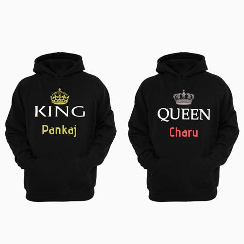 Couples Matching King And Queen Hoodie Set With Name Large selection of pankaj logos to choose from. mynamepixs com