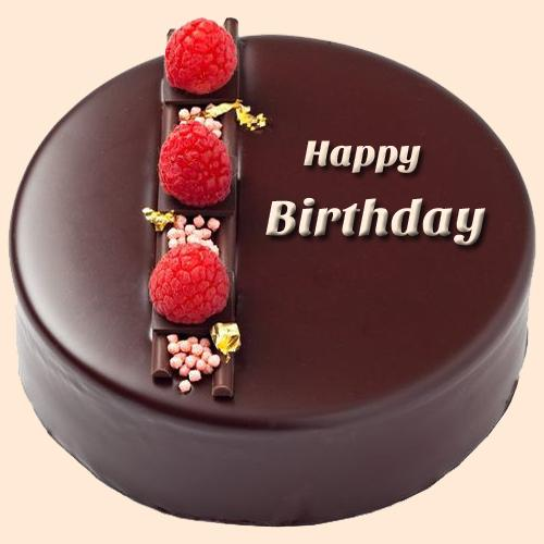 Happy Birthday Double Layer Chocolate Cake With Name