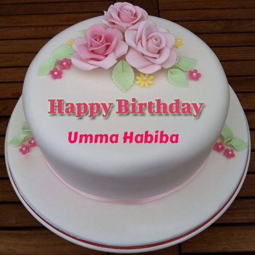Birthday Cake Images For Vahini : Excellent Happy Birthday Floral Round Cake With Name