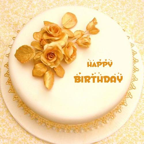 Get Name On Golden Birthday Cake And Send Via Whatsapp
