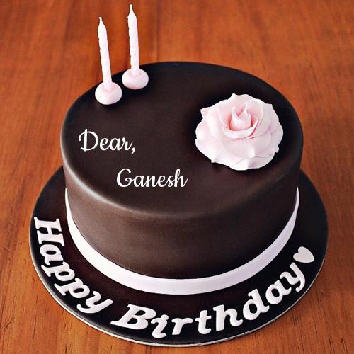 Happy Birthday Chocolate Rose Cake With Friend Name