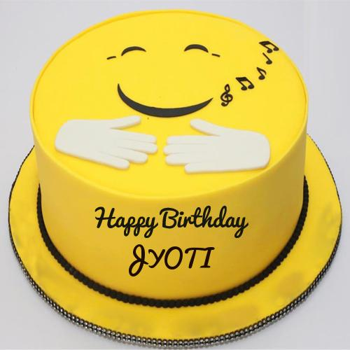 Cute Smiley Cake For Birthday Wishes With Your Name