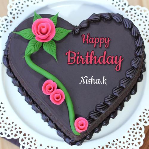 Happy Birthday Nisha Cake Pic Download Happy Birthday Nisha Cake