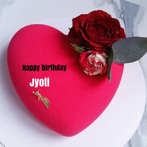 Beautiful Red Heart Birthday Wishes Cake With Your Name