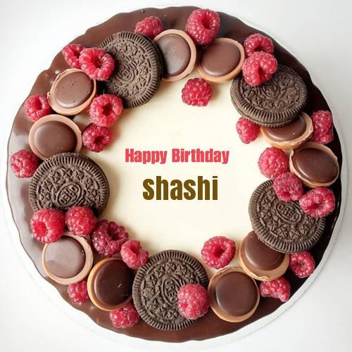 yummy chocolate oreo birthday wishes cake with name