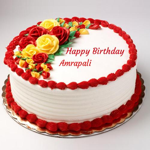 Birthday Cake With Name Guddu ~ Write name on happy birthday rose cake for love