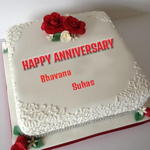 Write your couple name on anniversary cake picture - Write name on cake ...