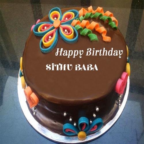 write your name on chocolate birthday cake for girls