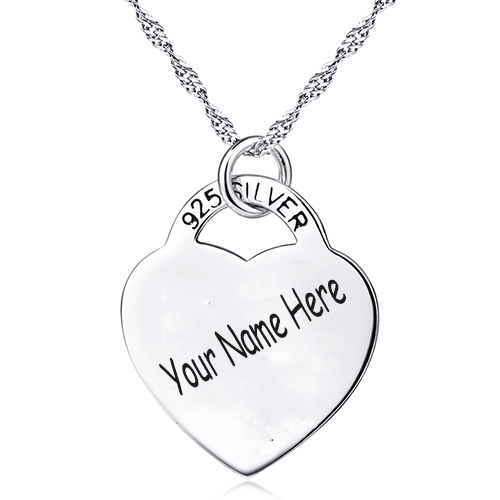 personalized silver with four chains any friends product necklace sterling names puzzle best s couple