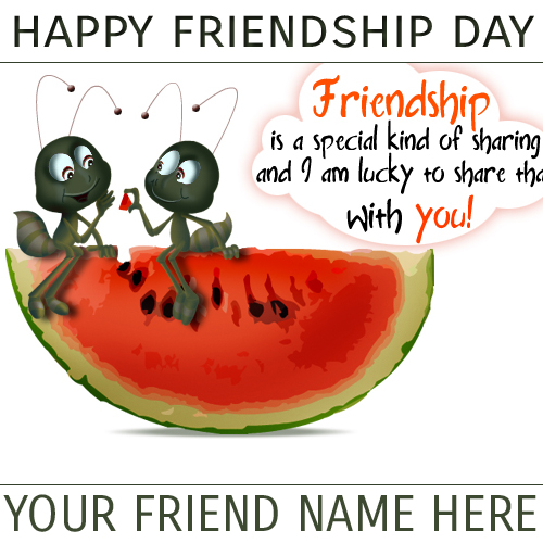 write your name on friendship pictures online, Birthday card