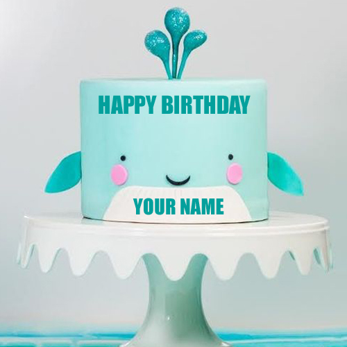 Write Name on Designer Smiling Baby Cake for Birthday