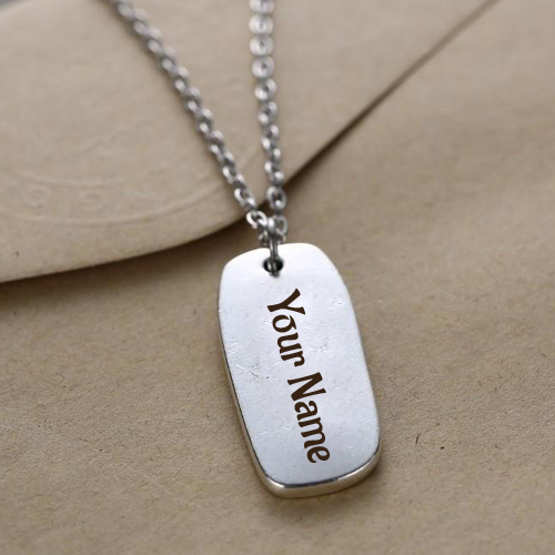Silver Personalized Handwriting Jewelry Pics With Name