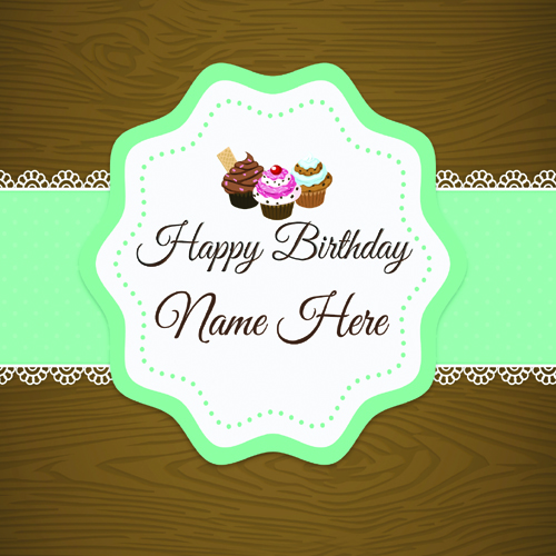 Write Your Name On Birthday Card