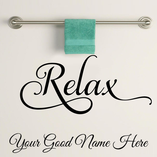 Write Name on Pics For Relax Vinyl Wall Sticker Art