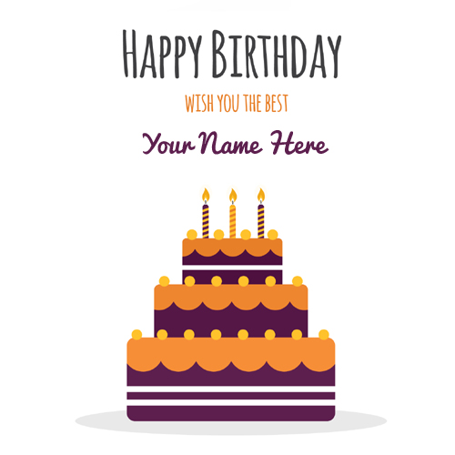 Happy Birthday Cake Illustration Pics With Your Name