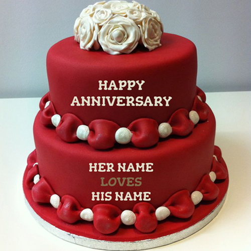 Anniversary Cake Images With Name Editor : Happy birthday cake with name edit
