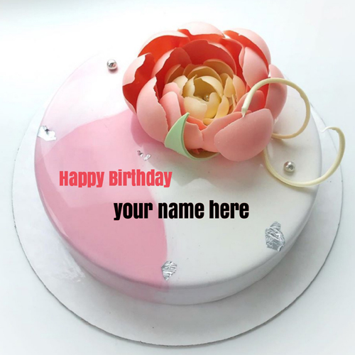 Girlfriend Birthday Special Pink Rose Cake With Name