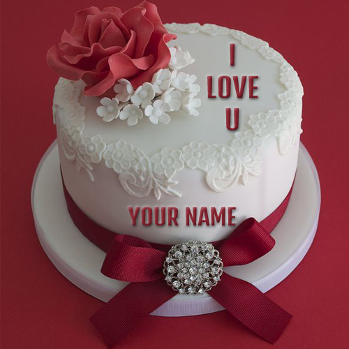 Download Love Cake Images : Write Name on I Love You Propose Cake Online Free