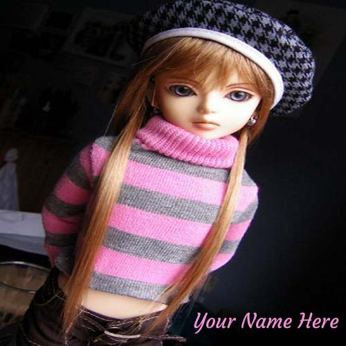 Write Your Name On Stunning Doll Picture