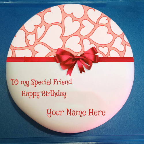 Write Name On Birthday Cake For Special Friend