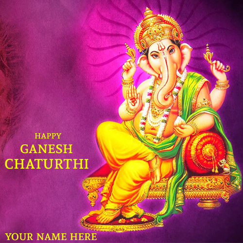 Ganesha Chaturthi Festival Greetings With Name Online