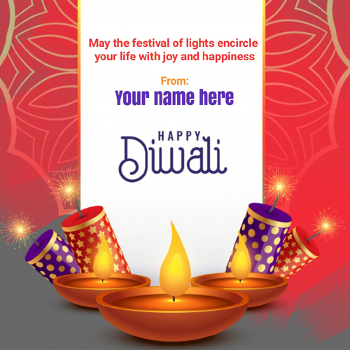 Happy Diwali 2020 New Quote Greeting With Name