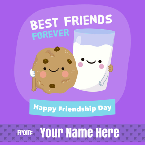 Best Friends Forever Friendship Day Greeting With Name