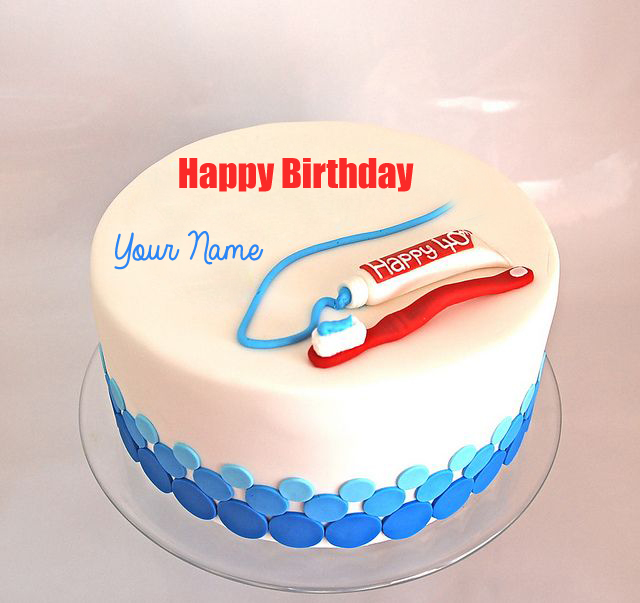Write Name on Happy Birthday Dentist Doctor Cake