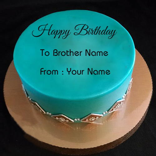 Birthday Cake Images With Name For Brother : Brother Birthday Wishes Special Cake With Your Name