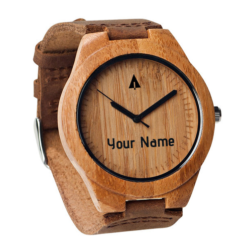 Write Name on Wooden Watch For Boys Profile Pics