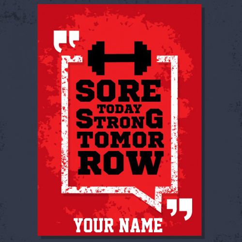 Write Name on Poster With Fitness Sports QuotePix