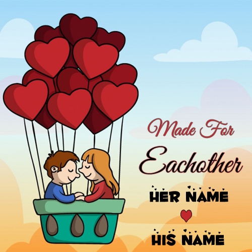 Made For Eachother Love Couple Greeting With Your Name