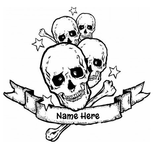 Write Name on Sugar Skulls Love Banner Tattoo Design