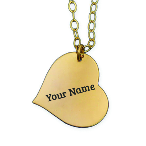 Print Name on Gold Heart Pendant Profile Picture