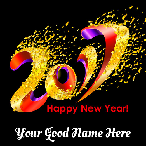 Happy New Year Party Celebration Greeting With Name
