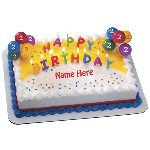 Happy 2nd Birthday Special Designer Cake With Name
