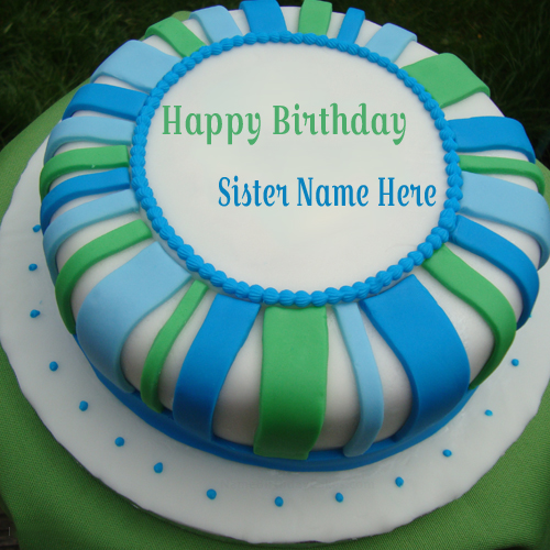 Write Name On Happy Birthday Cake For Angel Sister
