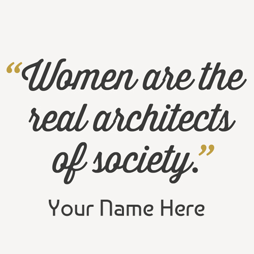 Women Empowerment Quote Profile Pics With Your Name