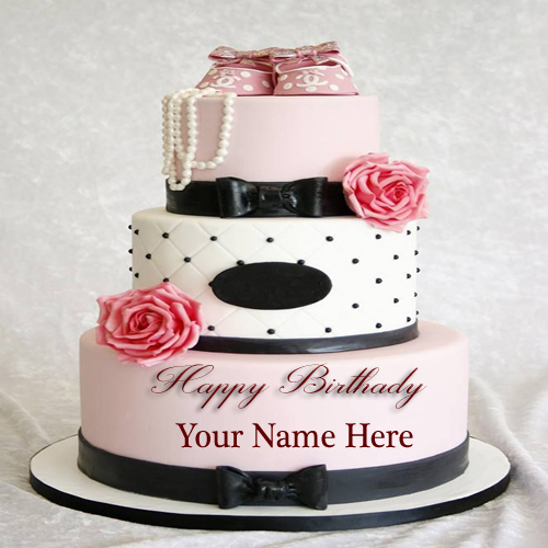 Cake Images With Name Akshay : Write Your Name Beautiful Wedding For Girls Cakes Pic