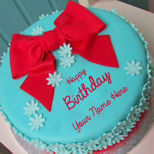 Birthday Cake Design Red Ribbon Prezup for