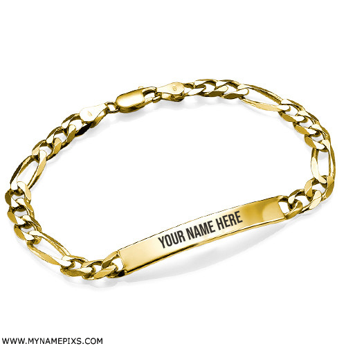 Womens Bracelet Pics in 18k Gold Plating With Your Name