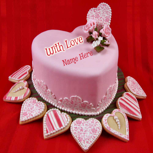 Write Your Name on Love Cake For Your Lover Online Free