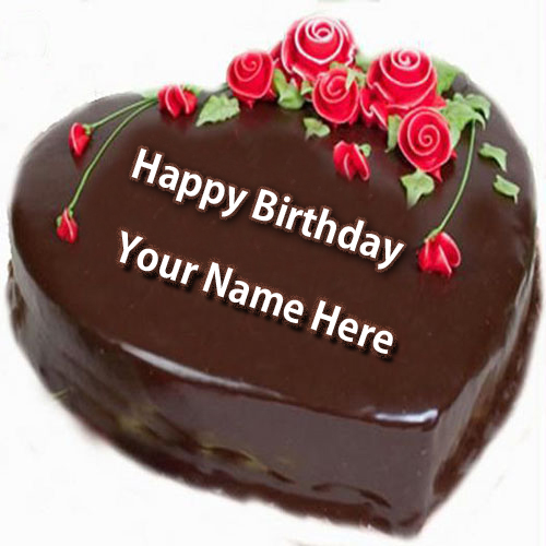 Birthday Cake Images To Write Name : Write Name on Happy Birthday Cake and Send on Whatsapp