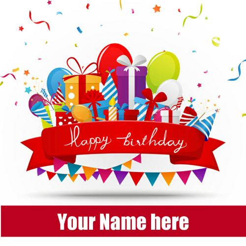 Birthday Celebration Multipurpose Card With Your Name