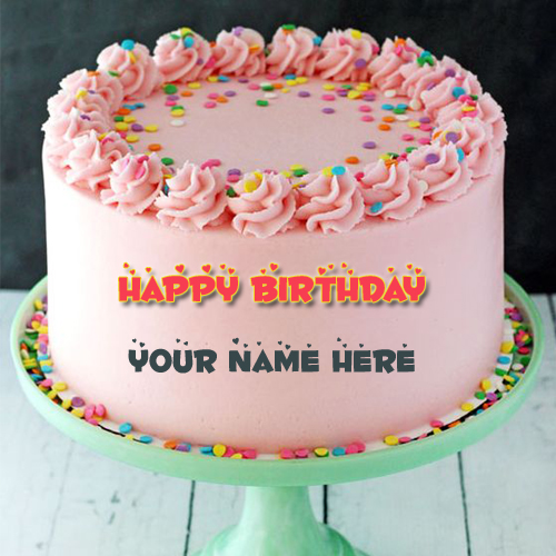 Happy Birthday Smooth Buttercream Round Cake With Name