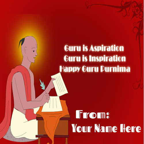 Write Your Name On Happy Guru Purnima 2015 Greetings