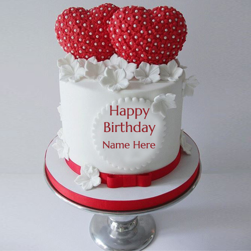 Cake Images With Name Vinay : Write Your Name On Strawberry Birthday Cake Pic Online